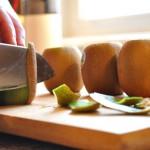 Prep the fresh fruit.