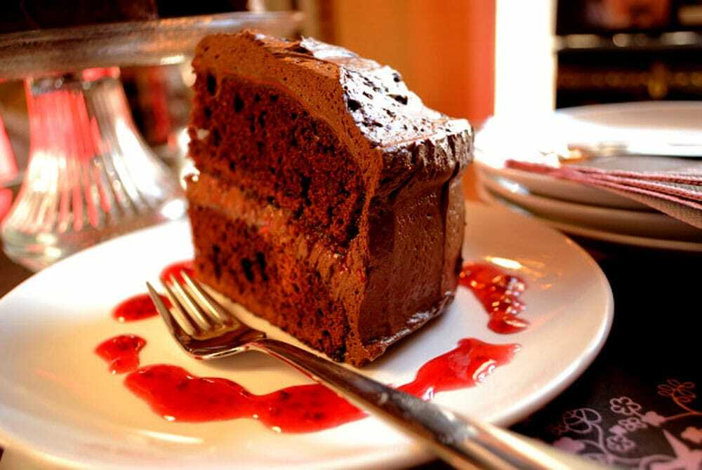 Double Dark Chocolate Raspberry Cake - Food Gypsy