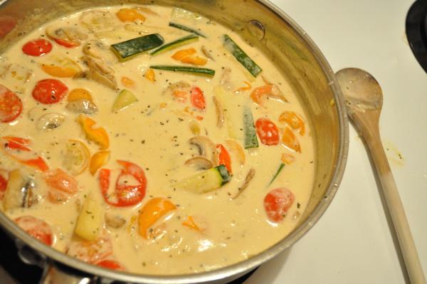 Vegetable Cream Sauce, Food Gyspy