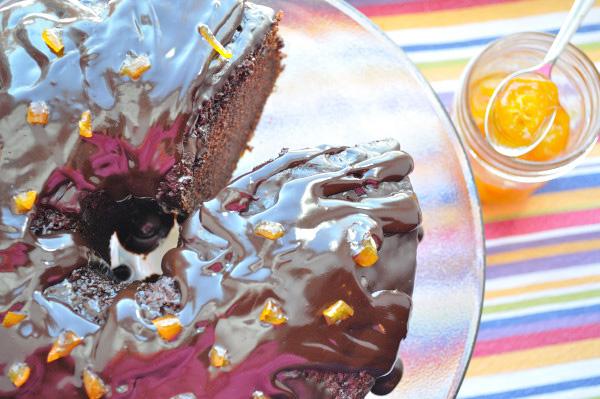 Orange Chocolate Chiffon Cake & Candied Kumquats - Food Gypsy
