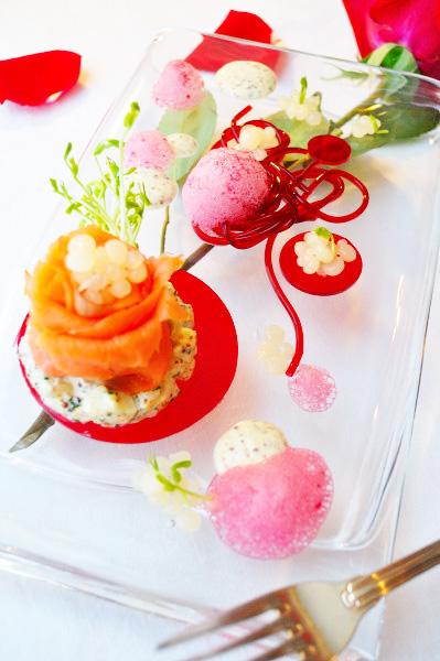 Molecular Valentines, full plate - Food Gypsy