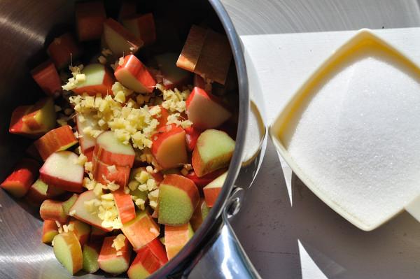 Rhubarb, ginger, sugar - Food Gypsy