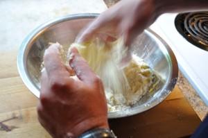 Incorporate wet ingredients - Food Gypsy