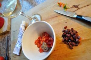 Tomato Olive relish ingredients - Food Gypsy