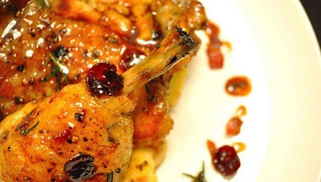Rosemary Apple Glazed Chicken with Bacon Polenta - Food Gypsy