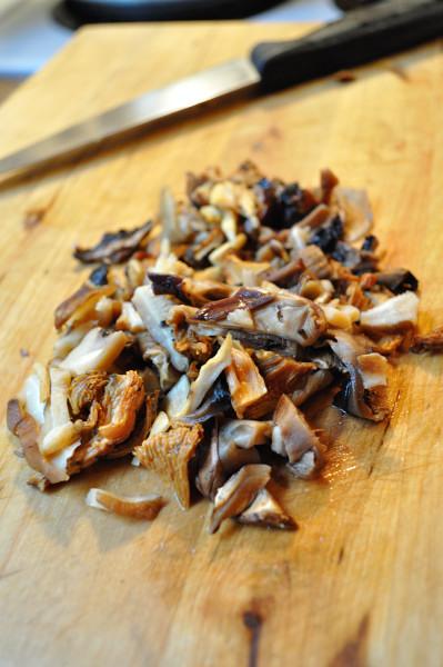 Chopped wild mushrooms - Food Gypsy