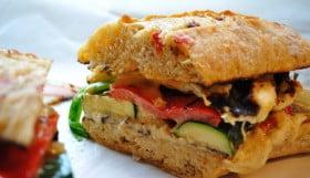 Grilled Vegetable Haloumi & Hummas Hoagie - Food Gypsy