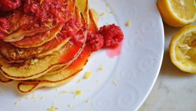 Lemon Ricotta Pancakes - Food Gypsy