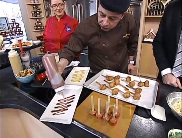 Chef B plating pogos - Compliments CTV Ottawa