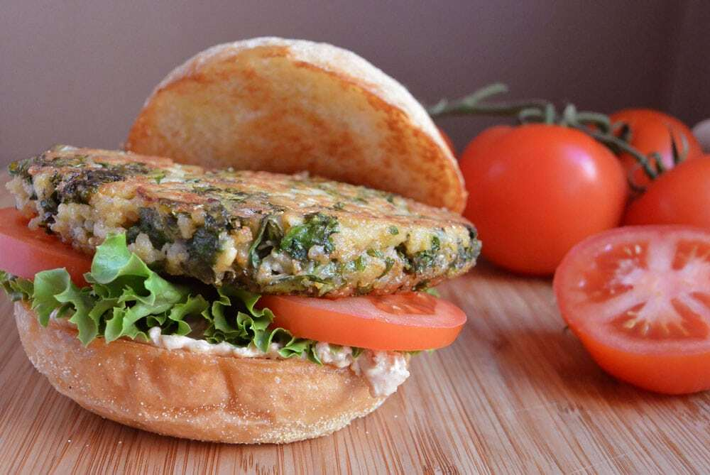 Kale & Quinoa Giardino Burger - Food Gypsy