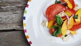 Nectarine & Bocconcini Salad - Food Gypsy