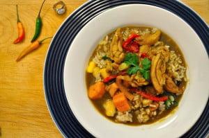 Dark West Indian Curry & Island Fried Rice - Food Gypsy