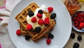 Oatmeal Flax Waffles - Food Gypsy