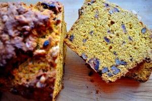 Orange Date Pumpkin Bread, slice - FG