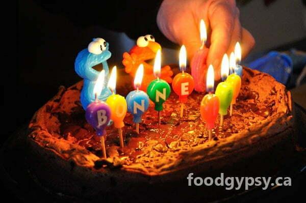Chocolate Torte, candles - FG