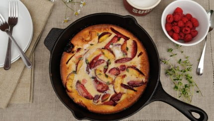 Dutch Baby Pancake with Summer Fruit - Food Gypsy