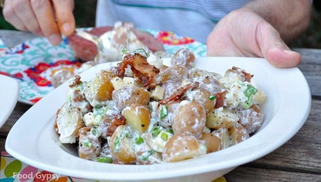 Loaded Baked Potato Salad - Food Gypsy