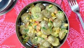 Curried Potato Salad - Food Gypsy