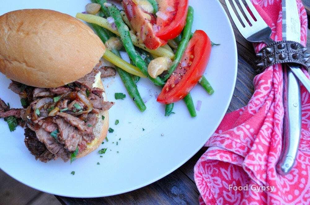 Lamb Sandwich with Harissa & Saffron Aioli - FG
