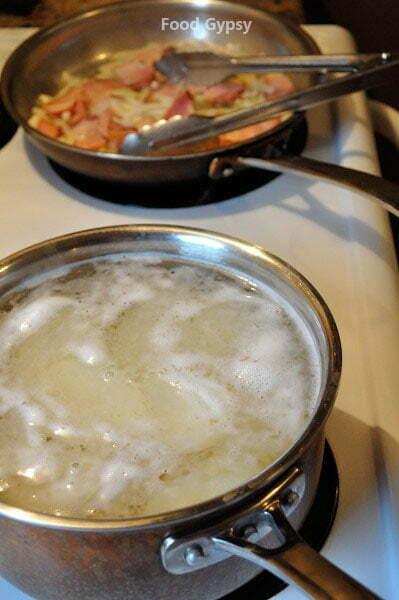 Tartiflette, blanche potatoes - FG