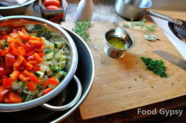 Sear vegetables - FG