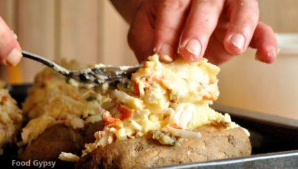 Lobster Stuffed Baked Potatoes - Food Gypsy