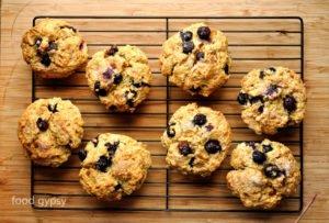 Lemon Blueberry Sourdough Muffins