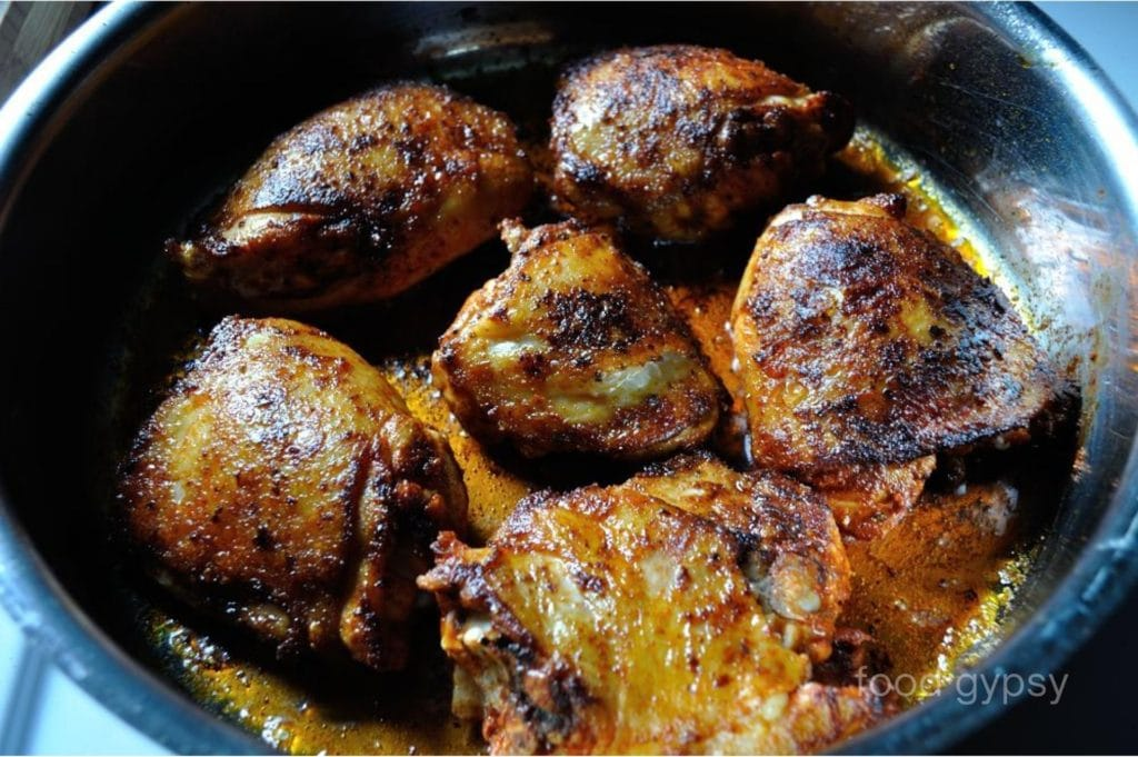 Chicken Chorizo, Sear